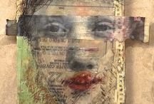 ART *Secrets of Paper...* / Illustration, Collage,Mixed Media,Print,Encaustic,Tags, Altered Art...