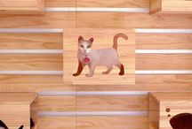 Cat stuff / Cat furniture, inside, outside, large, small, make yourself, DIY, buy, shop, ready made,  / by Joanne Wilkinson-Kean