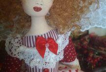 Marina Chechernikova / Handmade textile dolls, handmade vintage