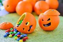 Idee creative per Halloween / Halloween: idee con frutta e verdura. Per spaventare i vostri bambini in modo divertente!