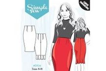 Simple Sew Patterns / Get inspired by the latest collection from Claire Garside, the brains behind Eliza M vintage! http://www.whitetreefabrics.com/sewing-patterns/simple-sew-patterns.html