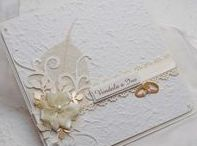My Wedding Cards / My handmade wedding card, different sizes, different materials, handmade paper...etc.