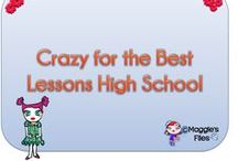 Crazy for the Best Lessons High School / Amazing teaching resources for High School  Join us: simsmaggie1@hotmail.com / by Maggies'  Files