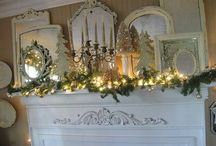 "Mantel Inspiration / ""Yes, it is spelled, "" M-A-N-T-E-L""    ; -) / by Mrs. May (Barbara)"