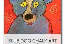 Hundekunster / Hunde tegnet og malet
