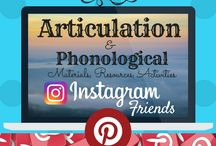 ARTICULATION & PHONOLOGICAL MATERIALS {Instagram Community Board} / Instagram Community Board: Excellent SLP activities, resources, games, research, TpT products related to speech articulation and phonological processes.