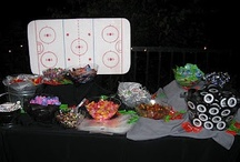 Party Theme:  Hockey / If a hockey theme is your GOAL, here's some ideas.  Hockey theme inspiration for Bar/Bat Mitzvahs, Birthdays, Sweet 16's