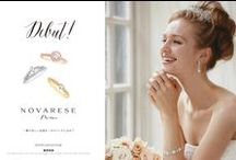 NOVARESE Prima / Original Braidal Rings  http://jewelry.novarese.jp/