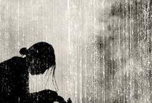 b&w | rain