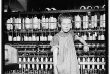 [H] Lewis Hine [1874-1940] / Lewis Wickes Hine was an American sociologist and photographer. Hine used his camera as a tool for social reform. His photographs were instrumental in changing the child labor laws in the United States.