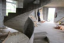 Building a staircase made of concrete with DNA DESIGN.CZ