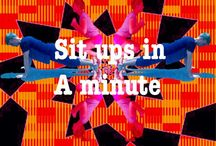 SIT UPS / How many sit ups can you do in 1 minute? Help me to create a virtual fitness space. Simply take a picture of you performing the exercises and upload it to the boards. Whether you participate in one or all of the categories. Give it a go and try your best. Don't just sit, lie and stand around all day, work your body and mind and you will feel better for it. Compete in a  fitness competition. Do it for you. Get together with friends and do it together.