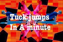 TUCK JUMPS / How many tuck jumps can you do in a minute? Help me to create a virtual fitness space. Simply take a picture of you performing the exercises and upload it to the boards. Whether you participate in one or all of the categories. Give it a go and try your best. Don't just sit, lie and stand around all day, work your body and mind and you will feel better for it. Compete in a  fitness competition. Do it for you. Get together with friends and do it together.