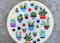 Modern Cross Stitch Designs / Patterns and Designs for creating modern counted cross stitch