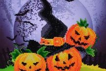 Halloween & Fall Crafts / Fall & Halloween Crafts - Needlework, Diamond Painting, No Count Cross Stitch, Needlepoint and Latch Hook