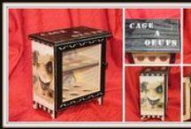 Cages à oeufs de Coco / Créations personnelles. N'hésitez pas à commander, beaucoup de modèles possible.