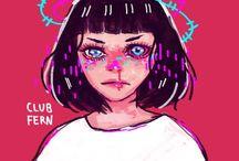 Club fern / Art from @club_fern on instagram and Facebook