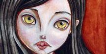 LittleMar illustrations / My illustrations. Acrylic, watercolours, pencils, digital...