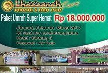 Paket Umroh Promo / Info Paket Umroh Promo Untuk mendapatkan Harga Hemat Dalam Menjalankan Ibadah Umroh
