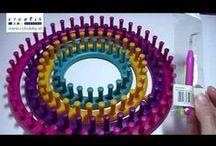 Neuleharppu, neulontarengas - loom knitting