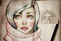 Moleskine Art / Drawing , sketching