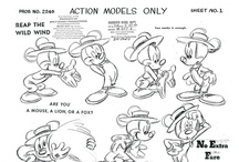 "Character Studies / ""Animation is the language of caricature. Our most difficult job was to develop the cartoon's unnatural but seemingly natural anatomy for humans and animals.""
