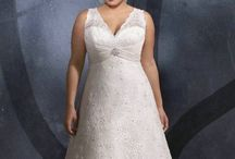 Beautiful plus size wedding gowns / Wedding gowns, bridesmaid dresses & accessories for the curvy ladies  / by Lillian Hayes