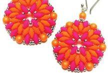 Beaded earrings / kolczyki