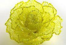 Beaded flowers / wzory kwiatowe