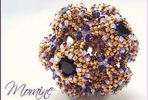 beaded beads / moduły; koraliki z koralików / by Mariola Brzez