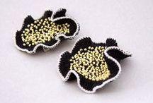 crochet bizu earrings