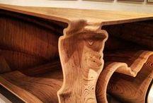Holz Design / Holz-Einrichtungen, Innen-Einrichtung, Design mit und aus Holz
