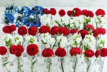 """Red, White & Blooms / """"The United States is the only country with a known birthday.""""  - James G. Blaine"""