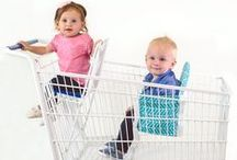 Baby Shopping Cart Seat - Buggy Bench / The Buggy Bench baby shopping cart seat was invented by a mom to make grocery shopping with your baby, toddler or multiples a stress-free experience.