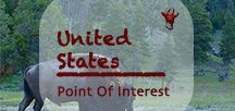 United States Points Of Interest | Amerika Reiseziele / It is not just a cliché - the USA offers it all to the World Nomads from the wilderness and wildlife in the national parks to the vast spaces where most travelers dream of. The United States of America - although just one country, it's as big as Europe and offers indefinite possibilities for nomadic travels.  #usa #unitedstates #northamerica #america #nationalparks