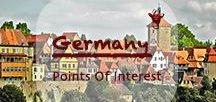 Germany Points Of Interest | Deutschland Urlaubsziele / Germany boasts of history. You can learn about the differences between East and West Germany in Berlin or follow the Romantic Road to the medieval past for example with the walled town of Rothenburg ob der Tauber.   Or head up to the rougher north to learn about the shipping all over the world from recent and earlier times.