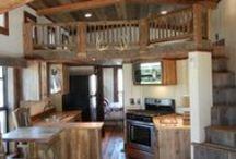Reclaimed Wood Cavco Cabin Loft / Customer uses reclaimed wood