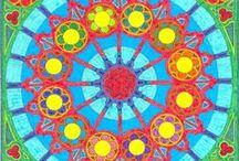 """Mis mandalas coloreados / Mandalas que encontré en Internet y coloreé en un tiempo """"revuelto""""."""