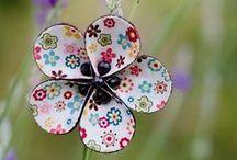 Flores de papel y más... / Flores y plantas de papel, tela, cartón, fieltro, ...