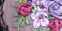 Silk ribbon embroidery / So beautiful ..