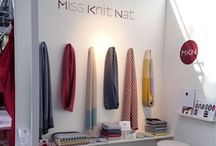 Mollie Makes Handmade Awards 2015 / Category entry: Established Business Award. Miss Knit Nat is a range of luxury knitted accessories, designed and handmade by Natalie using a hand powered knitting machine. Accessories use geometric knitted patterns and blending neutral and vibrant colours to create a signature style with wearability. Miss Knit Nat was launched in 2011 with chunky hand knitted accessories, I have since trained in machine knitting and launched the lambswool collection in 2014. www.missknitnat.com