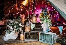 Glamping with Brook Bell Tents / Different styles for your Boutique Camping, an idea of what to expect from your event or wedding.