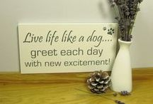 Dog Lover Gifts / Dog lover signs and plaques. Plus lots of other doggy love things. #doglover