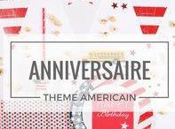 Table USA / Amérique / Découvrez nos idées pour une table d'anniversaire sur le thème américain, bleu blanc rouge, pour la fête de l'indépendance, ou juste pour le plaisir et un brin d'originalité.