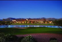Amenities at SaddleBrooke Ranch / Enjoy amenities including the La Hacienda Club with indoor & outdoor pools, fitness center, Bistro, salon, and much more. Don't miss the Golf Club featuring 18 holes of championship golf, pro shop, driving range and snack shop.