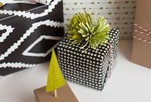{DIY gifts} / DIY gifts (in mason jars?) and cute wrapping.