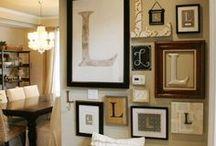 Mur De Cadres / Frame Wall / Inspiration pour notre mur de cadres / inspiration for our frame wall