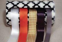 Ruban / Ribbon / Quelques idées pour utiliser tous les rubans qui se balladent dans nos tiroirs...