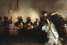 Flamenco y pintura / Qué es el hombre; que le sale esta expresión de dentro? Qué es el hombre lleno de nostalgia y de hambre de belleza para inventar esta forma tan majestuosa de quejarse, de llorar y de alegrarse...Qué maravilla es el hombre... / by pintarte