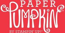 Paper Pumpkin Monthly Subscription Kits / Videos and samples of great projects created with Stampin' Up!'s My Paper Pumpkin Monthly Subscription Kits!  Subscribe today!  https://www.paperpumpkin.com/en-us/sign-up/?demoid=2124997